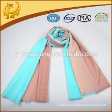 2015 New Style Fashion Factory Price Vente en gros Deux couleurs Cachemire Handfeeling Écharpes en laine italienne et écharpes en laine d'Italie