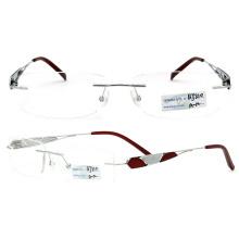 2015 New Models Titanium Rimless Eyeglasses (BJ12-310)