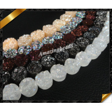 Round Gemstone Druzy, Bijoux de mode en gros avec Druzy Bead (YAD029)