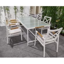 2020 patio furniture powder coated dining table
