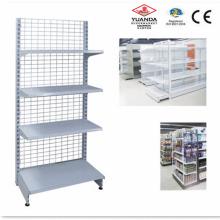 Supermarket Rack Display Stand Back Metal Wire Shelf