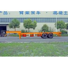 30 / 40ft trois essieux col de cygne conteneur remorque châssis