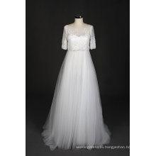 New Design A Line Lace Evening Prom Beach Wedding Dress