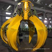 Электрический гидравлический грейферный ковш для износостойких материалов
