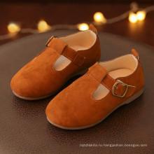 Необычные дешевые оптовые PU повседневные пряжки мягкий дети гуляют дети бездельник обувь для девочек