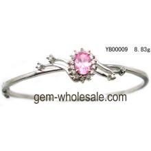 Silver Cubic Zirconia Bangle Jewelry (YB00009)