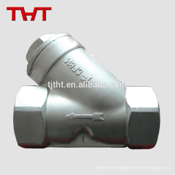 stainless steel y-type strainer with stainless steel mesh