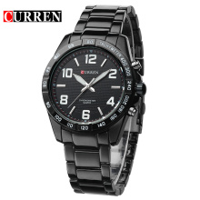 2017 mais novo design business quartz watch curren brand