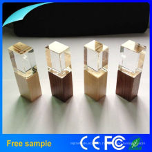 2016 Hot Selling Wooden Crystal USB Flash Drive with 8GB