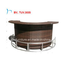 Outdoor Rattan Steel Round Bar Set Furnitures (CF611T)