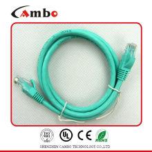 Cat6 Cable de remiendo Lista de UL CMP / CMR fábrica 26awg trenzado desnudo coper 7 * 0.2mm cableado cat6