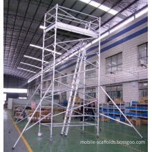 Painting Plastering Safety Adjustble Aluminium Mobile Scaffold / Mobile Scaffolding Tower