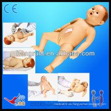 Avanzada de alta calidad bebé enfermería modelos de ciencia médica muñecas bebé enfermería maniquí