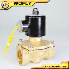 Válvula de control de gas solenoide neumático de 24 vcc de 2 vías