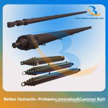 Cilindro telescópico hidráulico multiestágio para caminhão basculante