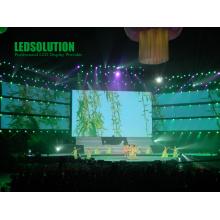 Exposição de diodo emissor de luz exterior da cortina da cor completa da venda P25 quente