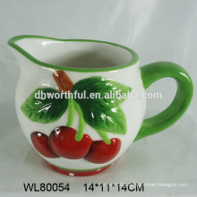 Lovely ceramic cherry water jugs