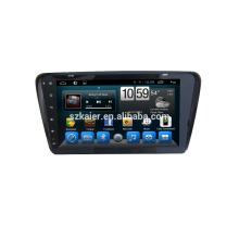 Auto DVD Spieler, Fabrik direkt! Viererkabelkern Android für Auto, GPS / GLONASS, OBD, SWC, wifi / 3g / 4g, BT, Spiegelverbindung für VW Skoda Octavia