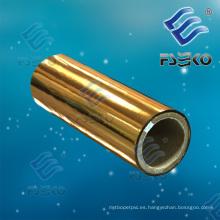 Película de laminación térmica protectora de oro metálico para caja de laminación, publicaciones