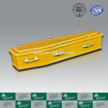 Желтый гробы люкса отличное качество австралийского стиля шкатулка A30-GSF