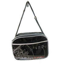 Bright Black PVC Single Shoulder Bags (XWT-003)