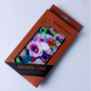 Anpassad Kraft Paper Mobile Phone Covers Packaging Box