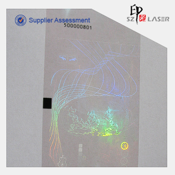 PET Heat Transfer Holographic Ribbon with Roll Packaging