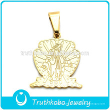 Truthkobo Mais Recente Limpar Significativa Pingentes de Design de Ouro Milagrosa Católica Maria Mãe de Deus Pingente