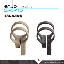 Tacband deslocamento tático lanterna montagem lanterna LED para Keymod 1 polegada anel bronzeado