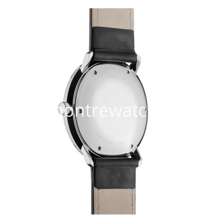 matt silver-plated watch