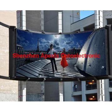 P10 outdoor arc LED display