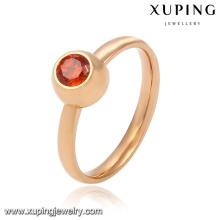 Elegante moda pequeña CZ 18k anillo de dedo de la joyería de imitación dorado de las mujeres -13782