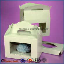 Luxury Single Paper Cupcake Box With Handle