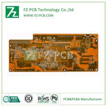 Kuning pateri 6 lapisan HASL Lf PCB Lembaga