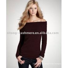 Женщины кашемир с плеча свитер