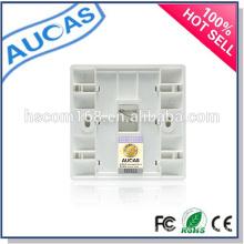 Parede rj45 fibra óptica placa frontal / SC / LC / ST fibra óptica face placa / FTTH única porta placa de parede interior /