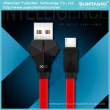 Diodo emissor de luz rápido de carregamento do diodo emissor de luz micro cabos do USB da sincronização para o andróide do iPhone