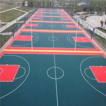 Outdoor Interlocking Sportboden