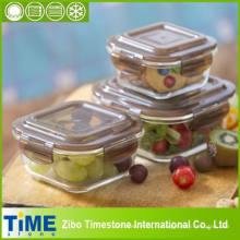 Récipient de nourriture chaude de stockage en verre de borosilicate (14110105)