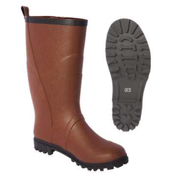 Manufacturing Companies for Kids Rubber Boot Men Rubber Boots in Brown Color with Logo export to Brunei Darussalam Wholesale