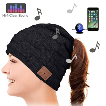 Peek A Boo winter hats with bluetooth