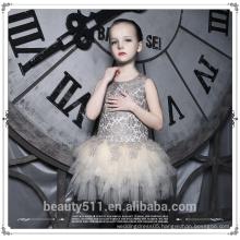 new fashion princess Strapless children girl latin dance dress baby wedding dress ED665
