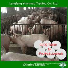 Beste effiziente Desinfektionsmittel Chlordioxid Tablette für Geflügel & Viehbestand