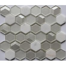 Mini Hexagon Crystal Glass Mosaic