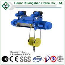 Single Speed Monorail Electric Hoist, Electric Hoist with Pendant Control, Wire Rope Electric Hoist