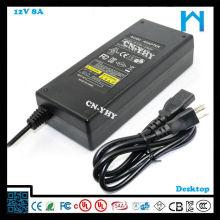 12v 8000mA адаптер переменного тока с CE UL / cUL GS FCC 96W