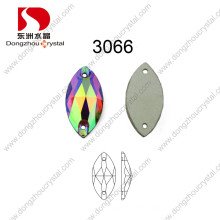 Pujiang Machine Cut Sew on Crystal Ab Stone Accessories for Ornament