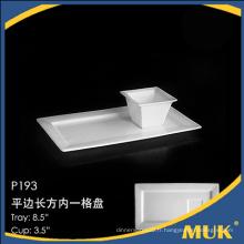 Nouveau design procelain en gros stock en porcelaine assiette en assiette