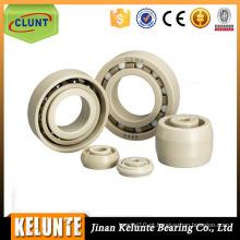 Material plástico Rolamento de esferas de sulco profundo 6201 Teflon PTFE Bearing
