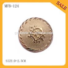 MFB124 venda por atacado moda vestuário personalizado botão de metal para jaqueta